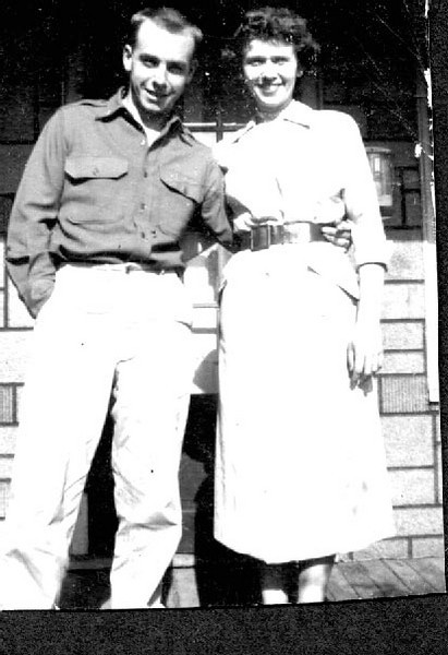 Rod & Irene Foote.  Roderick Allen Foote is the third of Bill & Ella's children.