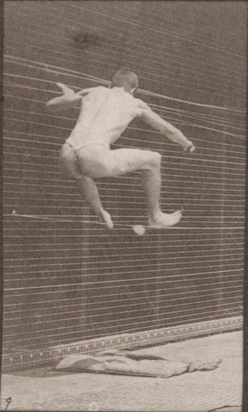 Man in pelvis cloth standing and jumping