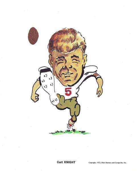 1972 Compu-Set Redskins Curt Knight