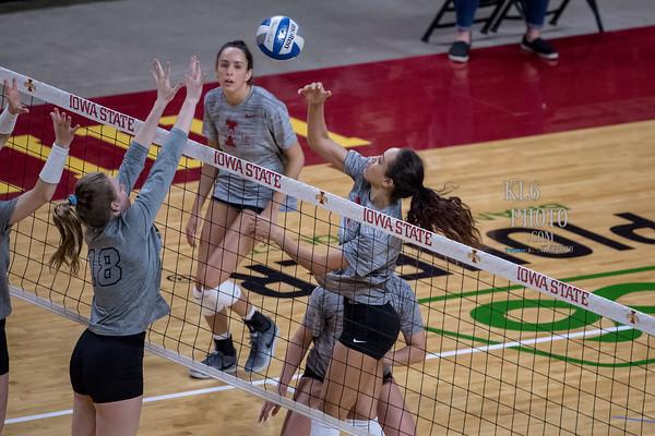 ISU Volleyball vs Iowa (Spring volleyball) 04/06/19
