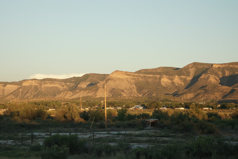 Southeast view from casita during sunset.
