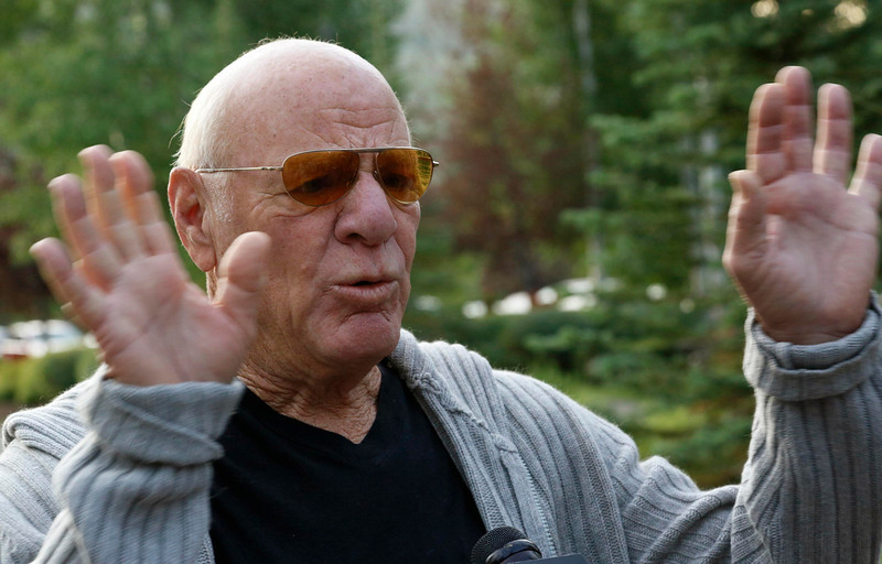 . Barry Diller, chairman of IAC/InterActive Corp, talks to reporters as he arrives for the first session of annual Allen and Co. conference at the Sun Valley, Idaho Resort July 10, 2013.  REUTERS/Rick Wilking