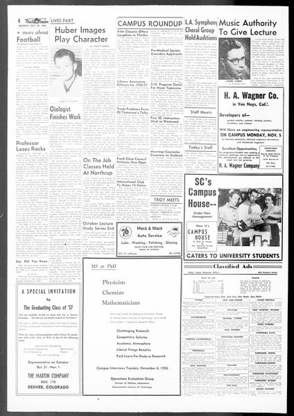 Daily Trojan, Vol. 48, No. 27, October 29, 1956