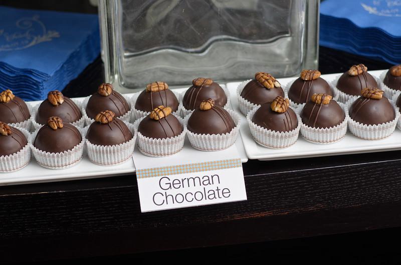 Wedding chocolates. The Oasis, Austin, TX.