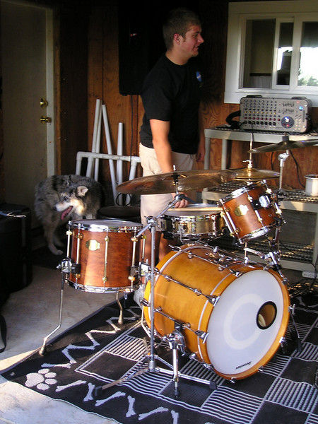 Tika discerns that there is no food involved in playing the drums.