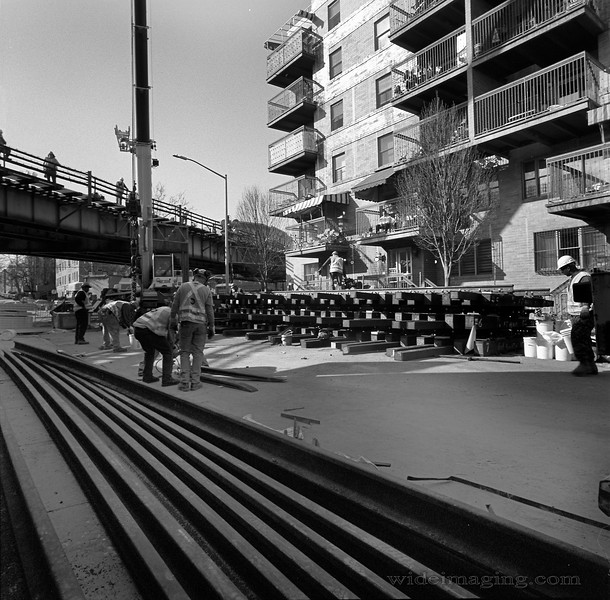 Boro Park, 42nd St. & New Utrecht Ave. Work on the B train, April 18, 2015.