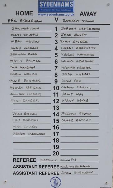 AFC Stoneham (1) Romsey Town (1) 15.4.2017