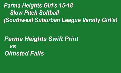 180706 Parma Heights Girl's 15-18 Softball Game 2