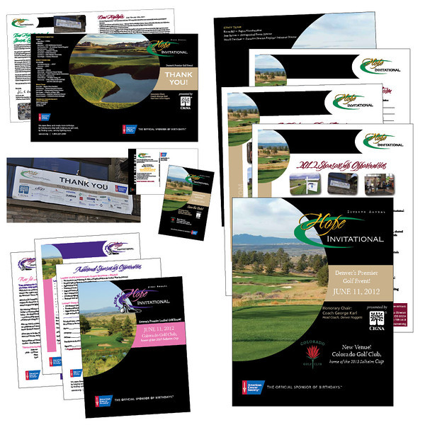 American Cancer Society Hope Invitational Golf Tournament materials