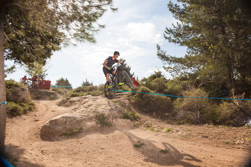 Mountain bykers competition