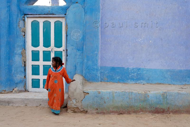[Egypt 29649] 'Nubian girl in Nagaa Al Hamdelab.'