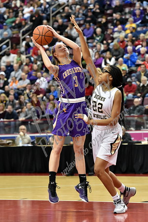 Lancaster Catholic vs Berks Catholic District 3 AAA Girls Basketball Finals 2015 - 2016