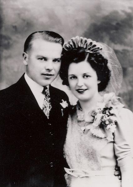 Arnold Knutilla and Marian Fessenbecker Wedding July, 1943