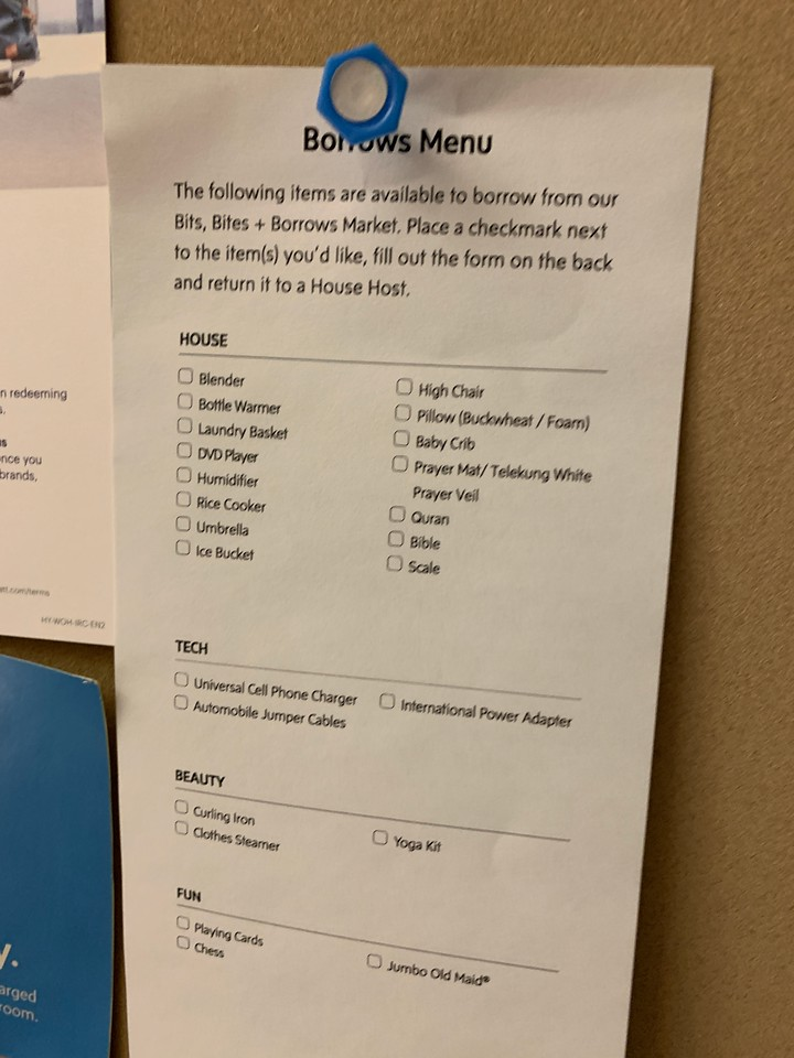 The Borrow Menu at Hyatt House KL