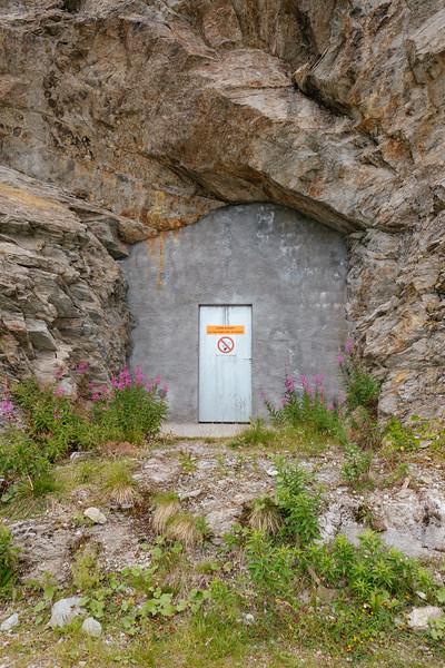 Door in the mountain Verbier