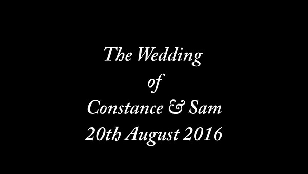 Constance & Sam wedding