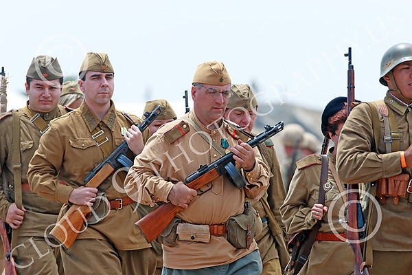 World War II Soviet Army Historical Re-enactor Pictures