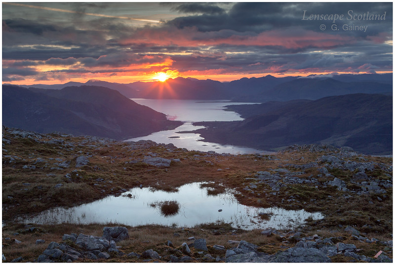 Loch Leven and Garbh Bheinn (Ardgour), sunset (2)
