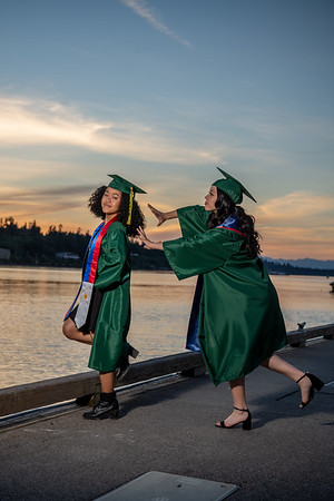 Angel and Dree Cap and Gown