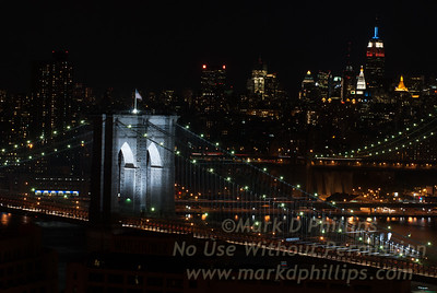 Brooklyn Bridge 125th Anniversary on May 23, 2008 with New York City