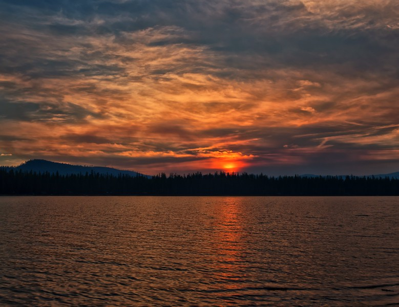 Seeley Lake Sunset