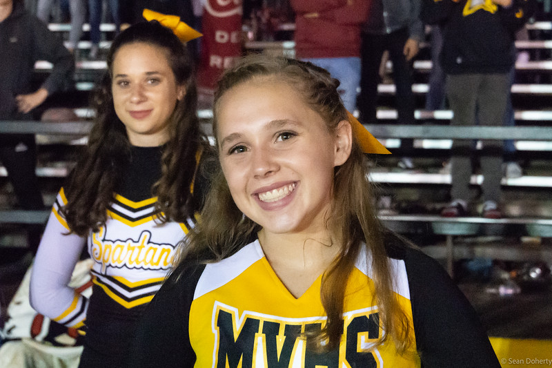 Taken under the temporary lights at a high school football game between Homestead High School and Mountain View Hight School at MVHS.
