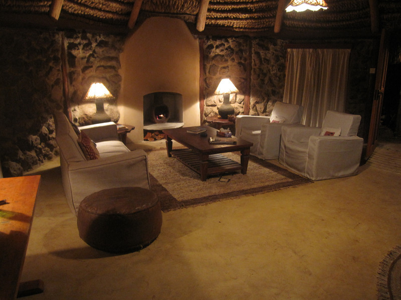 """Living room at our """"room"""" at Lewa.  Hard to say """"room"""" since it was more like our own bungalow."""