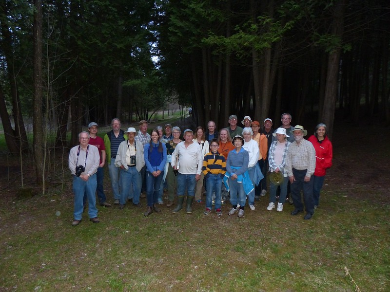 WBFN members gathered for group photo at Godfrey property