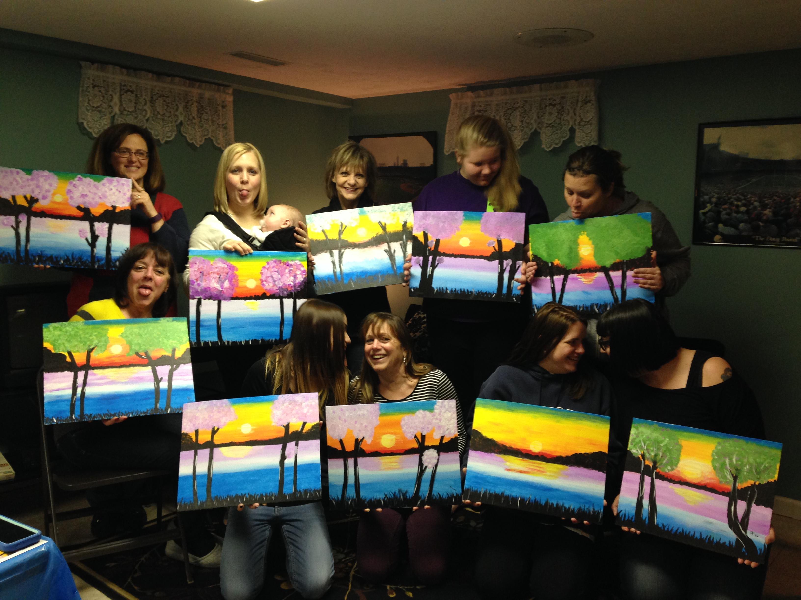 Jennifer Caulkins family painting nite 1/17/16