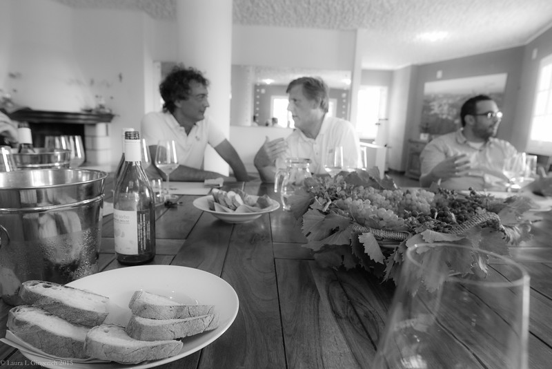 """Bread, wine, grapes and a four-course """"light lunch"""" took care of the fatigue from traveling to this paradise."""