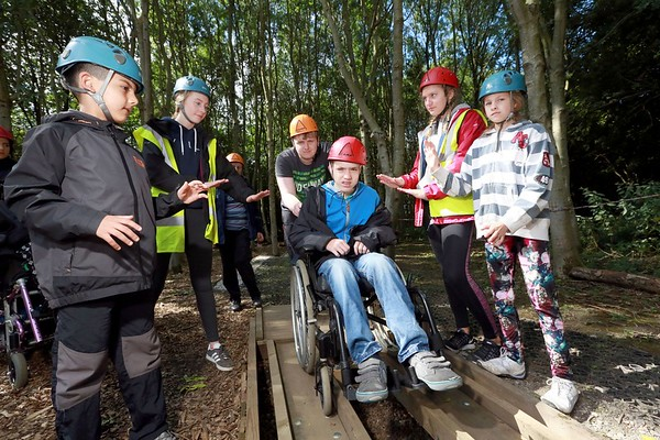 The opening of the Accessible Low Ropes Course