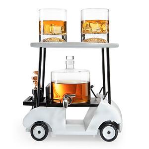 Golf Cart Decanter W/2