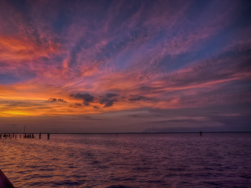 Sunset over Lake Monroe, Sanford, Florida