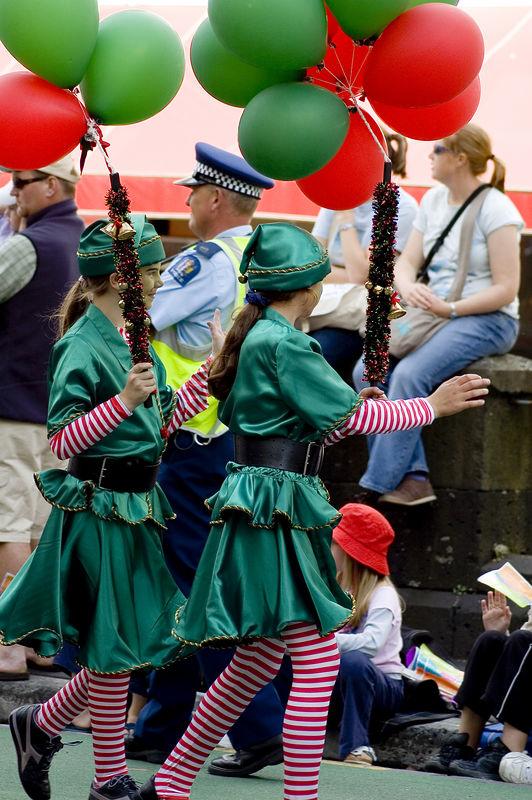 Irish pixies Santa Parade Auckland New Zealand - 27 Nov 2005