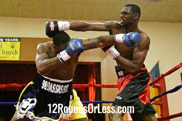 """Bout #2:   Jermaine Franklin, Baton Rouge, LA   ve   Wesley """"King"""" Triplett, Youngstown, OH  -  Heavyweight"""