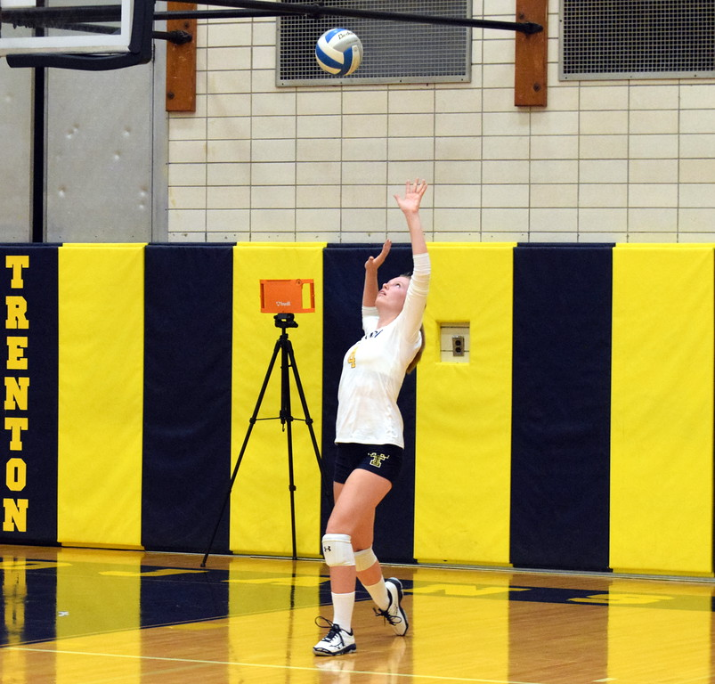 . Trenton welcomed in Taylor High for a Downriver League match on Thursday night and swept the Griffins 3-0 (25-11, 25-13, 25-9). Frank Wladyslawski - Digital First Media