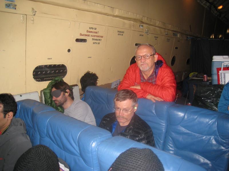 Inside the Russian Ilyushin cargo plane