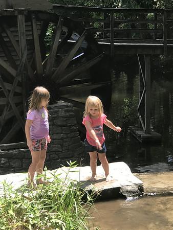 Grand girls! Grist mill! 8.12.20