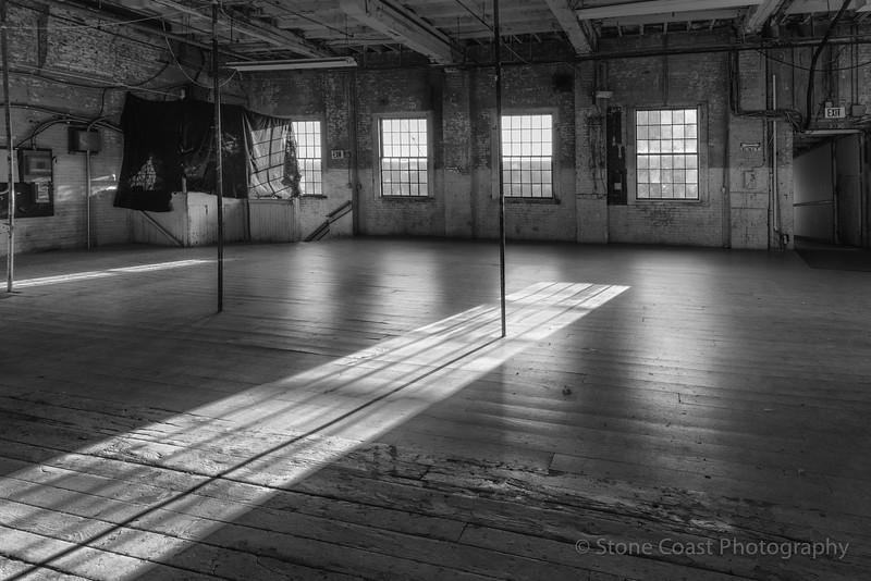 Morning Shadows at The Portland Company BW