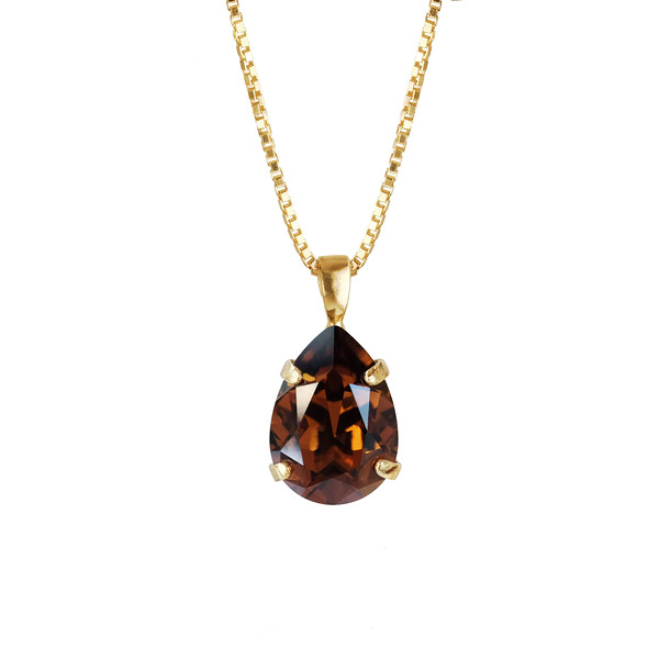 MINI DROP NECKLACE / SMOKED TOPAZ