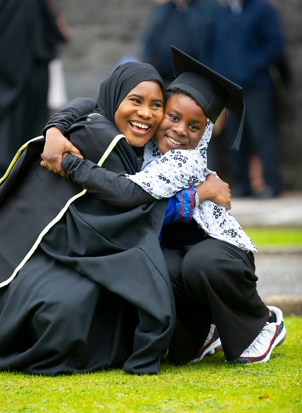 30/10/2019. Waterford Institute of Technology (WIT) Conferring Ceremonies. Pictured is Kerimot Ramoni from Kilkenny with her sister Rodhiat Kerimot graduated Master of Business. Picture: Patrick Browne