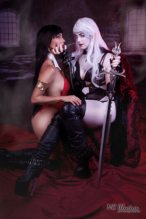 Vampirella and Lady Death - Ivy Cosplay and Gothic Sushi