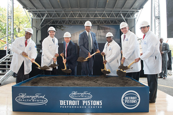 Pistons Performance Center Groundbreaking