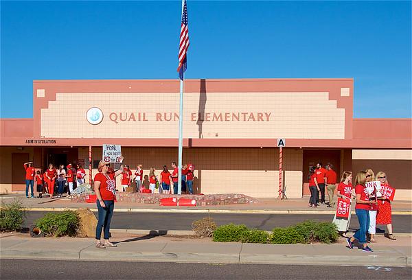 Red For Ed Walk In - Quail Run Elementary School PVUSD 4-11-2018