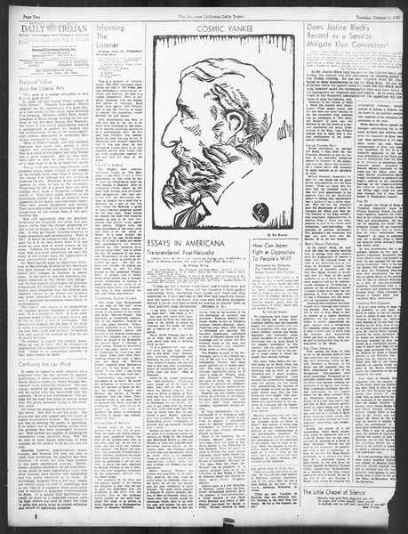 Daily Trojan, Vol. 29, No. 13, October 05, 1937