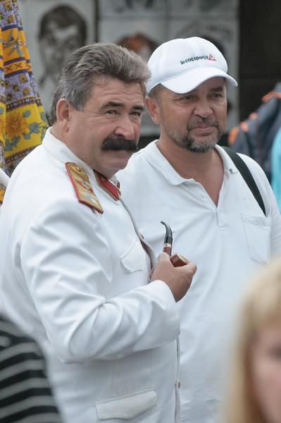 Wer ist das? Man konnte sich für ein wenig Geld mit Lenin, Stalin oder Putin fotografieren lassen.