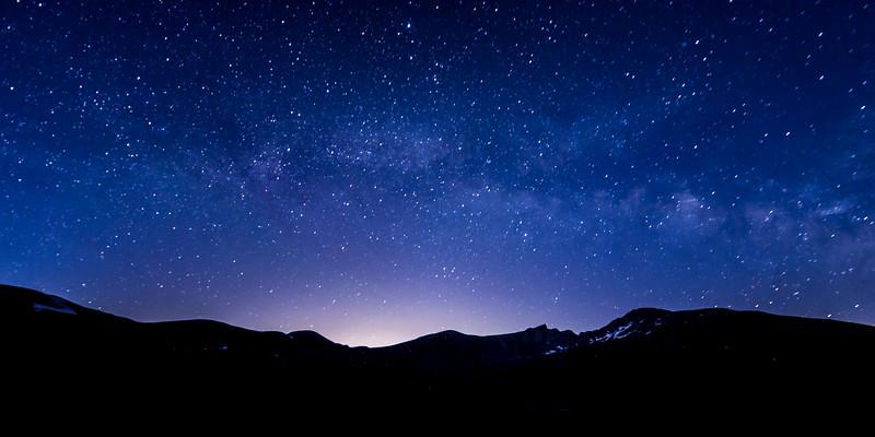 Stars over Mount Bierstadt