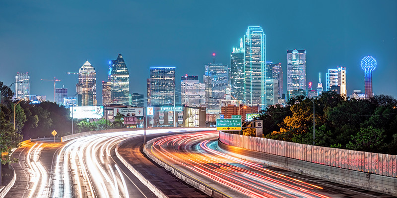 Dallas from the Edgefield Avenue Bridge