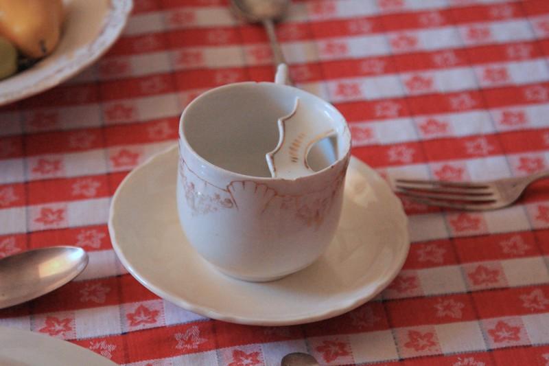 Moustache cup.