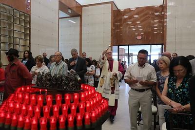 Bishop Thomas J. Tobin dedicates Saints Peter & Paul Mausoleum